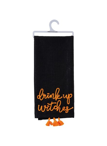 Primitives By Kathy Drink Up Witches Halloween Towel