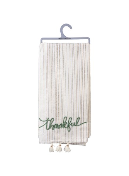 Primitives By Kathy Thankful Tassel Tea Towel