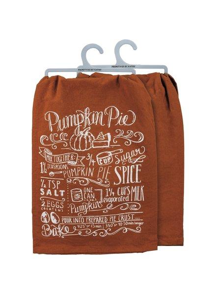 Primitives By Kathy Pumpkin Pie Recipe Kitchen Towel