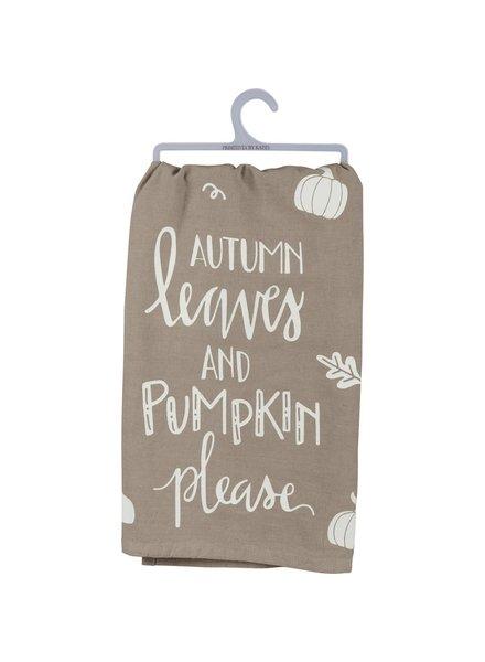 Primitives By Kathy Autumn Leaves & Pumpkin Please Towel