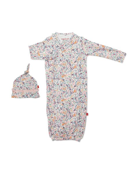 Magnetic Me Floral Magnetic Me Baby Gown & Hat