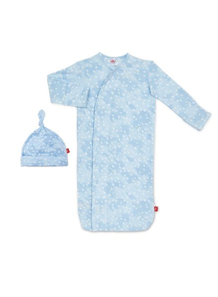 Magnetic Me Magnetic Blue Doe Skin Baby Gown & Hat