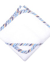 3 Marthas Blue Striped Hooded Towel