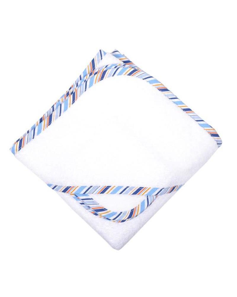 3 Marthas Blue Striped Hooded Towel