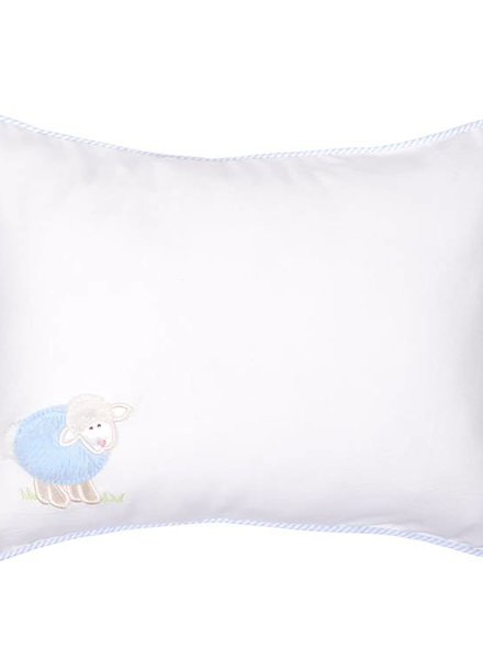 3 Marthas Blue Lamb Baby Pillow