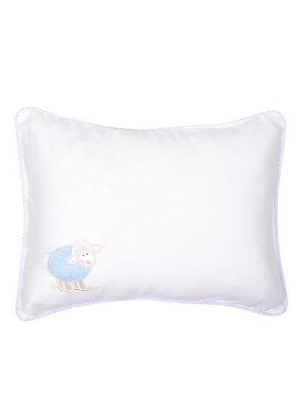 3 Marthas Birthdate Blue Lamb Baby Pillow