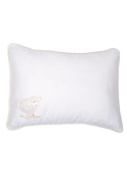 3 Marthas Birthdate Green Lamb Baby Pillow