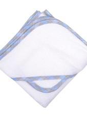 3 Marthas Blue Plaid Terry Hooded Towel