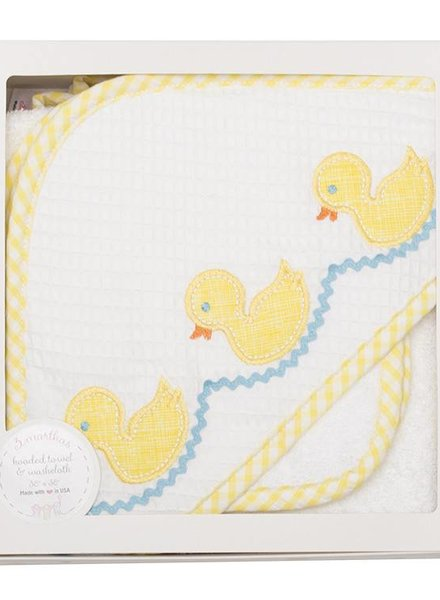 3 Marthas Yellow Duck Hooded Towel