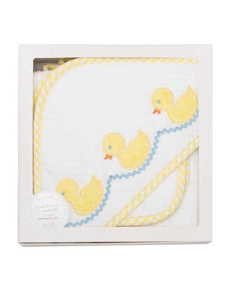 3 Marthas 3 Marthas Hooded Towel - Yellow Duck