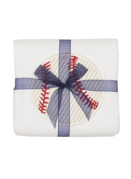 3 Marthas Baseball Burp Cloth