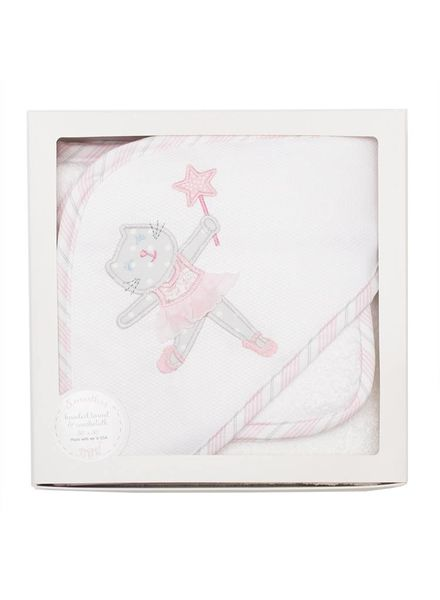 3 Marthas Ballet Kitty Hooded Towel