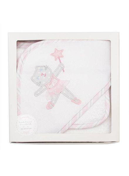 3 Marthas Ballet Kitty Hooded Towel