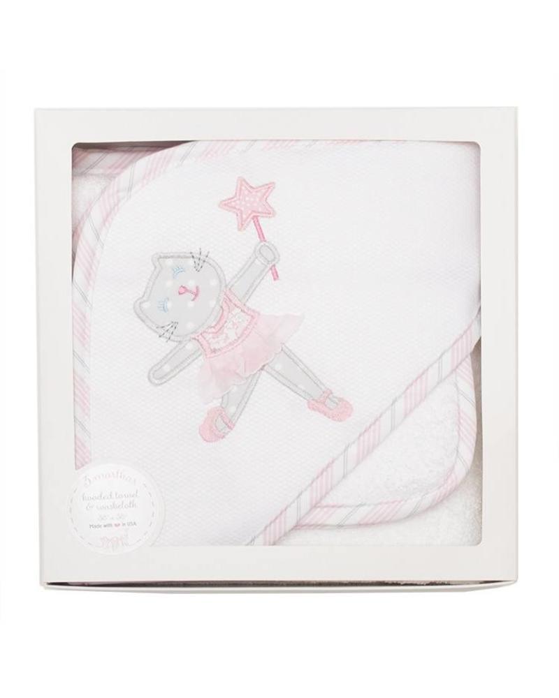 3 Marthas 3 Marthas Hooded Towel - Ballet Kitty
