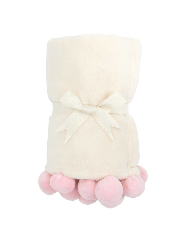 Elegant Baby Elegant Baby - Poms Blanket - Pink