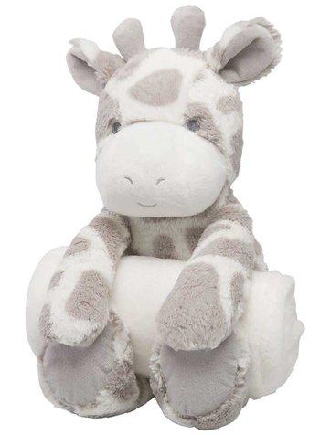 Elegant Baby Giraffe Bedtime Huggie & Blanket