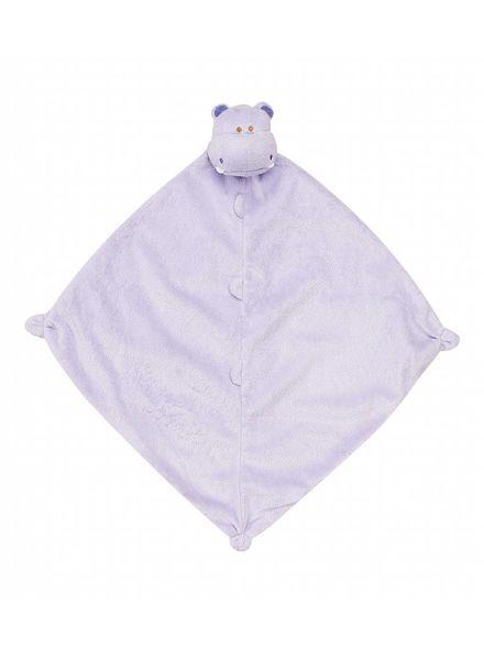 Angel Dear Monogrammed Purple Hippo Lovie