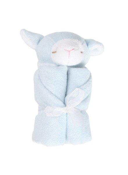 Angel Dear Blue Lamb Monogrammed Lovie