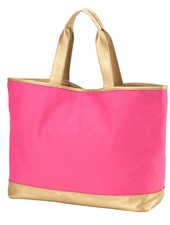 Wholesale Boutique Hot Pink Cabana Tote Bag