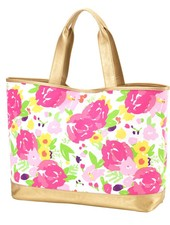Wholesale Boutique Pink Floral Cabana Tote Bag