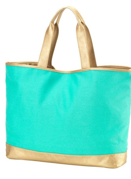 Wholesale Boutique Mint Cabana Tote Bag