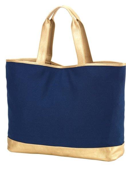 Wholesale Boutique Navy Cabana Tote Bag