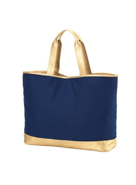 Wholesale Boutique Navy Cabana Tote Bag