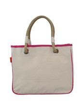 CB Station Hot Pink Trim Rope Tote