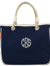 CB Station Solid Navy Rope Tote