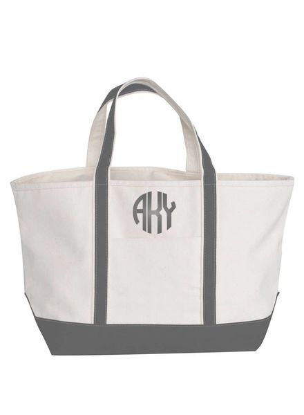 CB Station Gray Large Boat Tote