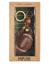 Two's Company Football Keychain