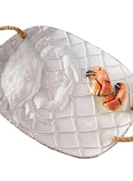 Mudpie Crab Platter With Rope Handles