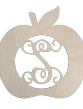 Wholesale Boutique Apple Wood Monogram