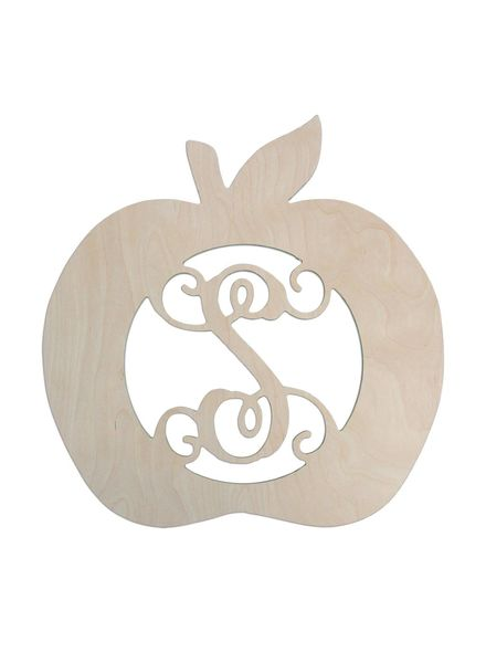 Wholesale Boutique Apple Wood Monogram