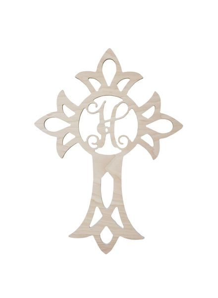 Wholesale Boutique Wood Cross Monogram