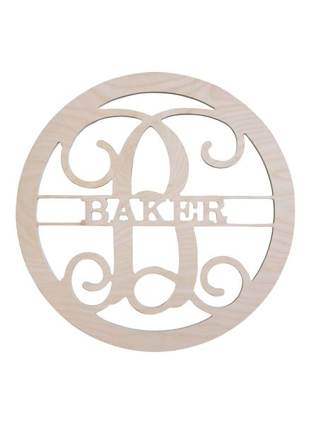 Wholesale Boutique Wood Family Name Monogram
