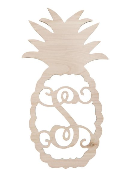 Wholesale Boutique Wood Pineapple Monogram