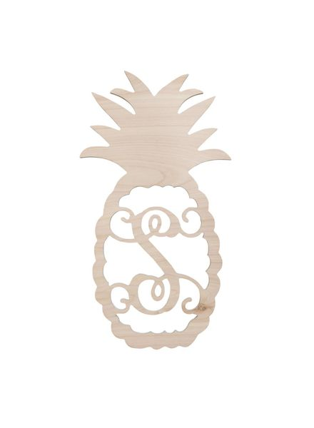 Wholesale Boutique Wood Pineapple Monogram