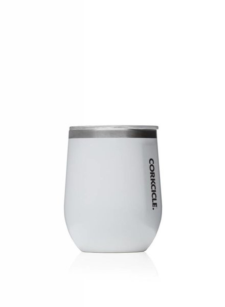 CORKCICLE Gloss White Stemless Wine