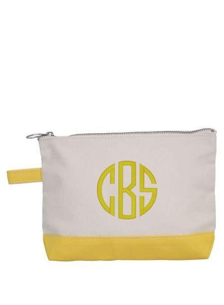 CB Station Yellow Make Up Bag