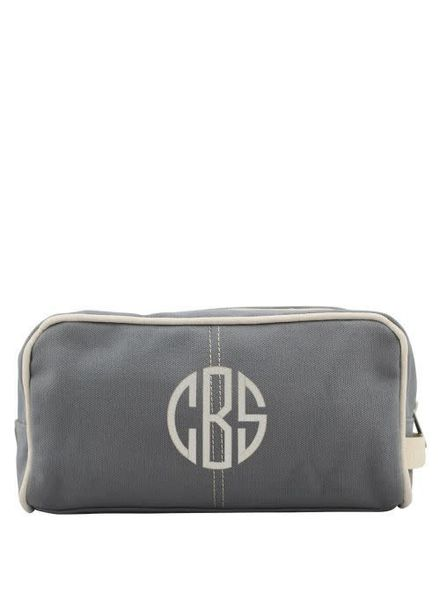 CB Station Grey Canvas Dopp Kit
