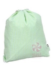 Mint Lime Seersucker Sling Bag