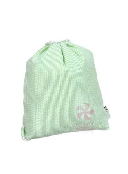 Mint Lime Seersucker Sling Bag