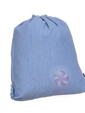 Mint Navy Seersucker Sling Bag