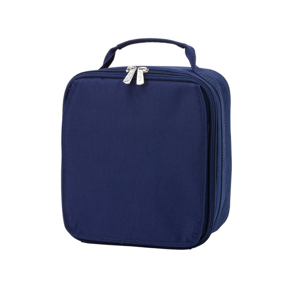 Wb Lunch Box Solid Navy Initial Styles Jupiter