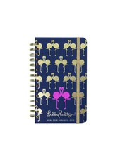 Lilly Pulitzer Navy Flamingo Medium Agenda