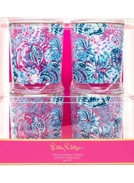 Lilly Pulitzer Gypsea Girl Lo Ball Glasses