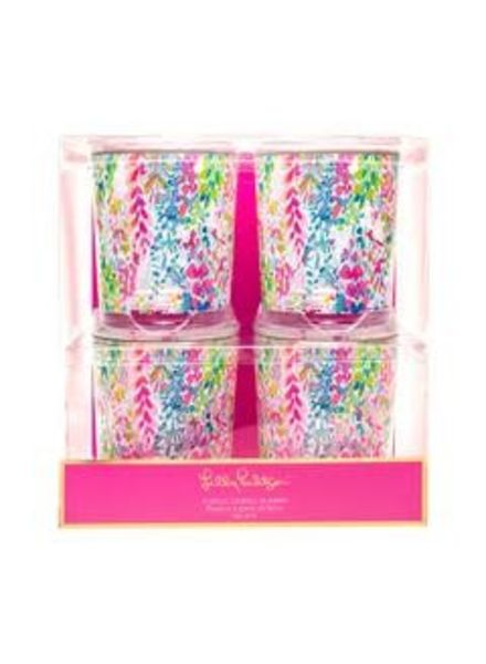 Lilly Pulitzer Catch the Wave Lo Ball Glasses