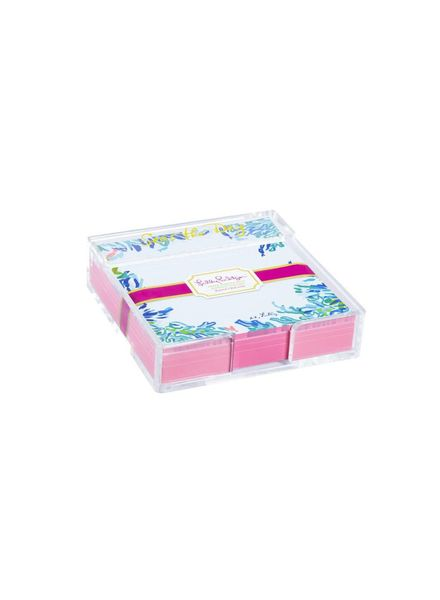 Lilly Pulitzer Lilly Acrylic Holder & Notes - Wade & Sea
