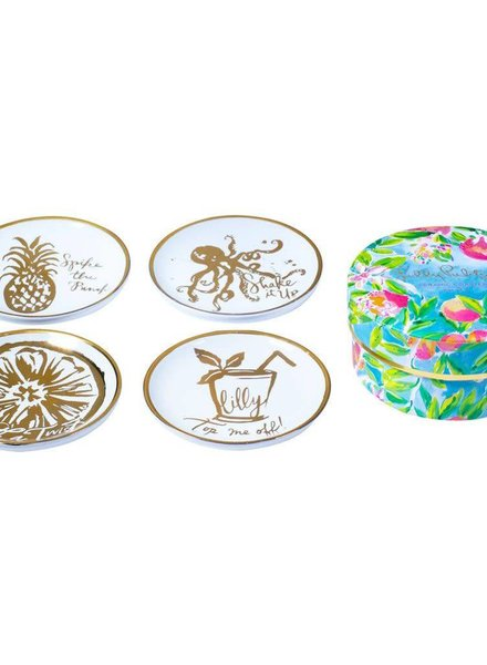 Lilly Pulitzer Fresh Squeezed Ceramic Coasters